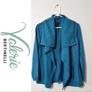 Valerie Bertinelli Wool Merino Open Cardigan